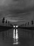Car on a Rural Road, 1938 Metal Print by Scherl Süddeutsche Zeitung Photo