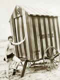 Badekabine in den USA, 1925 Fotografie-Druck von Scherl Süddeutsche Zeitung Photo