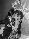 Kissing Couple at the 'Reimannball' in Berlin, 1929 Photographic Print by Scherl Süddeutsche Zeitung Photo