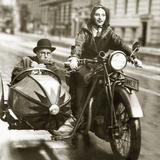 Wilhelm Bendow in a Sidecar, 1930 Photographic Print by Scherl Süddeutsche Zeitung Photo