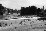 Banks of the Isar in Munich, 1938 Photographic Print by Knorr Hirth Süddeutsche Zeitung Photo