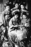 Girls in Japan, 1933 Photographic Print by Scherl Süddeutsche Zeitung Photo