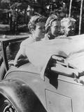 Three Girls Sitting on the Foldaway Seat of a Convertible, 1933 Photographic Print by Scherl Süddeutsche Zeitung Photo