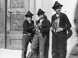 Farmboys from Sarentino in South Tyrol, 1914. Photographic Print by Knorr Hirth Süddeutsche Zeitung Photo