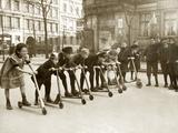 Children at a Scooter Race, 1922 Photographic Print by Scherl Süddeutsche Zeitung Photo