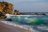 Laguna Beach Shore Break and Waves Stretched Canvas Print by Ben Horton