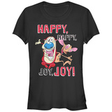 Juniors: Ren & Stimpy- Happy, Happy, Joy, Joy T-shirts
