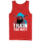 Tank Top: Star Wars: Yoda- Train You Must Tank Top