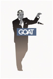 Goat POTUS - Mic Drop Sillhouette Photo