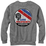 Crewneck Sweatshirt: Gas Monkey- Distressed Le Mans Button T-Shirt