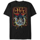 Star Wars- Distressed Classic Comic Cover T-Shirt