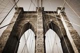 The Brooklyn Bridge, a National Landmark Lærredstryk på blindramme af Keith Barraclough