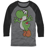Long Sleeve: Legend Of Bros- Yoshi Hug (Raglan) Raglans