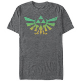 Legend Of Zelda- Distressed Giant Triforce Emblem T-shirts