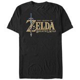 Legend Of Zelda- Breath Of Wind Logo Camiseta