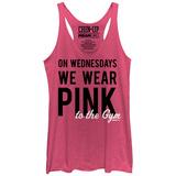 Juniors Tank Top: Wednesday Gym Wear Scoop Neck T-shirty