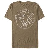 Twin Peaks- Vintage Travel Button T-skjorter