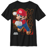 Youth: Super Marios Bros- Mario Character Card T-Shirt