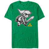 Legend Of Zelda- Grey Link Shirts