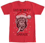Gas Monkey- Knit Santa Monkey T-Shirt