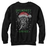 Crewneck Sweatshirt: Gas Monkey- Knit Santa Monkey T-Shirt