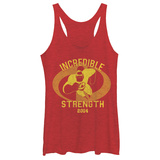 Juniors Tank Top: Disney: The Incredibles- Incredible Strength 2004 Scoop Neck T-shirts