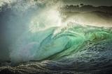 Wave Photo at Papohaku Beach, West End, Molokai, Hawaii Lærredstryk på blindramme af Richard Cooke III