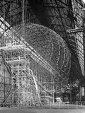 Zeppelin Lz 129 'Hindenburg' under Construction Poster by Scherl Süddeutsche Zeitung Photo