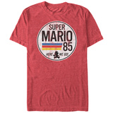 Super Marios Bros- Distressed Le Mans Button T-Shirt