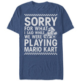 Super Marios Bros- Sorry For The Trash Talk T-shirts