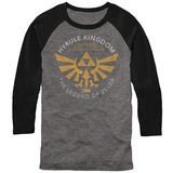 Long Sleeve: Legend Of Zelda- Hyrule Kingdon Est 1986 (Raglan) T-Shirt