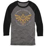 Raglan: Legend Of Zelda- Hyrule Kingdon Est 1986 Raglans