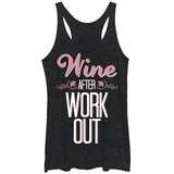 Juniors Tank Top: Wine After Workout Scoop Neck Womens Tank Tops