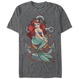 Disney: Little Mermaid- Ariel And Anchor T-Shirt