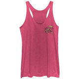 Juniors Tank Top: Twin Peaks- Lets Tock Pocket Icon Scoop Neck Womens Tank Tops