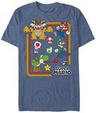 Super Marios Bros- Friends And Foes T-skjorte