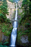 A Scenic View of Multnomah Falls Stretched Canvas Print by Josh Howard
