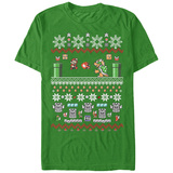 Super Marios Bros- Festive Holiday Knit Level T-shirts
