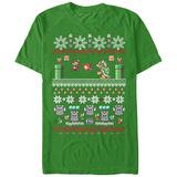Super Marios Bros- Festive Holiday Knit Level Camisetas