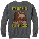 Crewneck Sweatshirt: Donkey Kong- Strong Like Dk T-Shirts