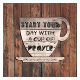 I Start My Day Praying Prints by Sheldon Lewis