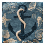 Anchor Blue Posters by Jace Grey
