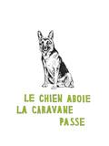 Le Chien Aboie, La Caravane Passe Premium Giclee Print by Natasha Marie