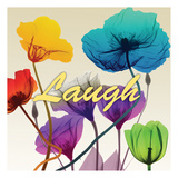 Floral Calm Pop Laugh Poster by Albert Koetsier