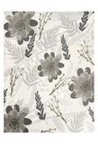 Flower Pattern Grey Prints by Kimberly Allen