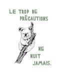 Le Trop de Precautions Premium Giclee Print by Natasha Marie