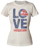 Juniors: Woodstock- Love T-Shirts