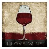I Love Wine Prints by OnRei OnRei