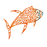 Tribal Koi 2 Prints by Melody Hogan