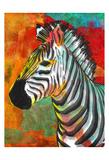 Vibrant Zebra Posters by OnRei OnRei